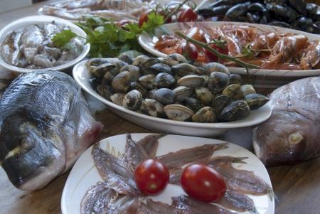 raw mediterranean mixed bluefish  photo