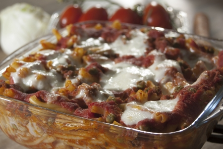 Pasta al forno a kind of itaian baked pasta cooked in oven