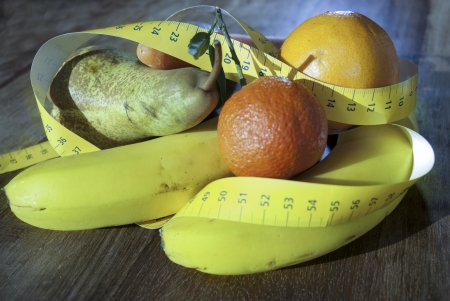 conceptual image: fruit of the health and weight loss diet