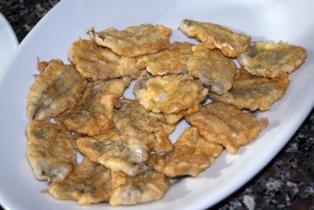 traditinal: traditinal  mediterranean recipe: fried anchovies flapjack