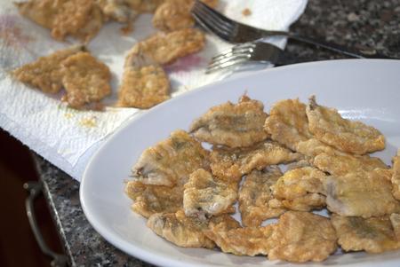 traditinal: traditinal  mediterranean recipe: friy of anchovies
