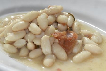traditinal: traditinal  mediterranean recipe: boiled beans