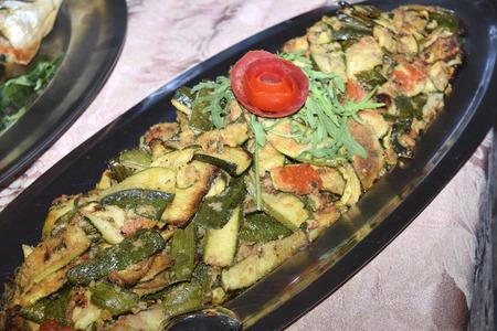 traditinal: traditinal  Italian dish:grilled zucchini Stock Photo