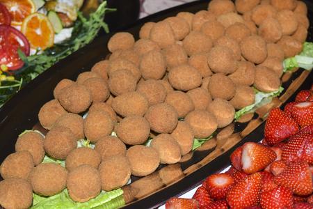 traditinal: traditinal  Italian dish: olives allascolana