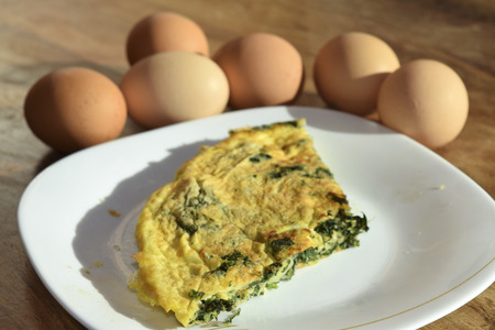 traditinal: traditinal  Italian dish:omelet with vegetables Stock Photo