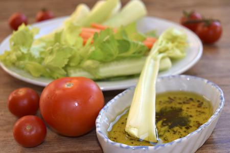 traditinal: traditinal  mediterranean recipe: vegetables with vinaigrette