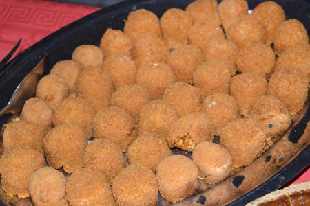 traditinal: traditinal  Italian appetizers: rice croquettes