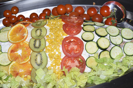traditinal: traditinal  Italian appetizers: vegetables and fruit