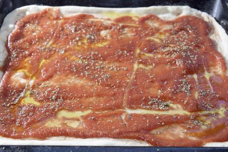traditinal: traditinal  Italian food: pizza at the tomato