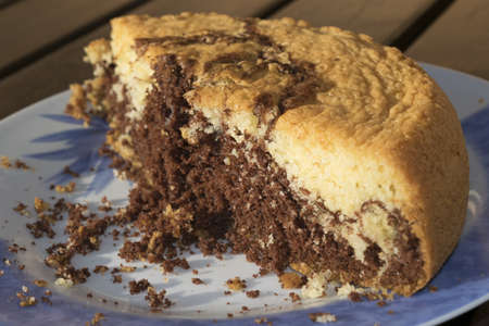 nutella: homemade ciambellone with nutella and chocolate