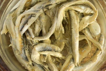 bluefish: typical starter of the mediterranean diet: marinated anchovies
