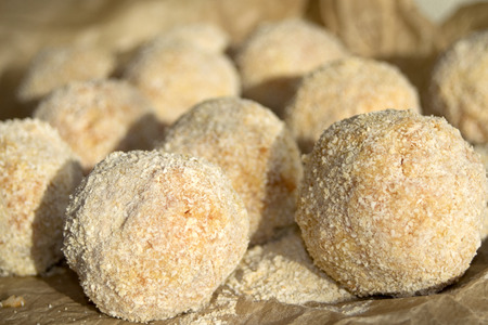 tasties and flavours  of sicily: fried arancini photo