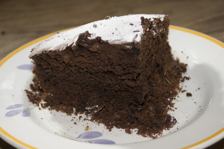 nutella: tasty dessert: homemade cake with nutella