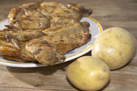 dietetical: a course of rotisserie: Chicken devilled style with potatoes