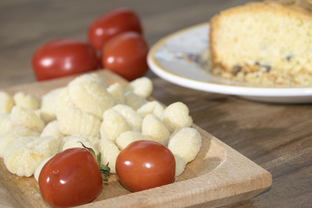 recipe typical of the Lazio: gnocchi with fresh tomato photo