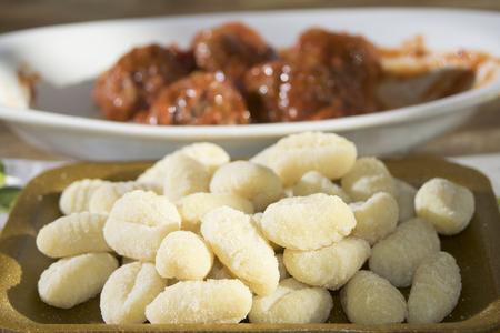 romana: recipe of the Lazio: gnocchi alla romana Stock Photo