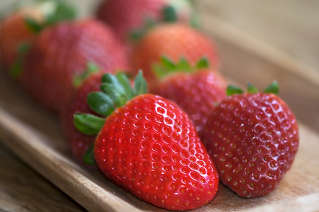 biologic: healthy and fresh fruit: biologic strawberries