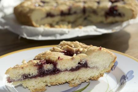 slice of handmade tart of marmalade photo
