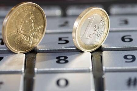 monetary concept: concept of calcution appreciation and monetary value Stock Photo