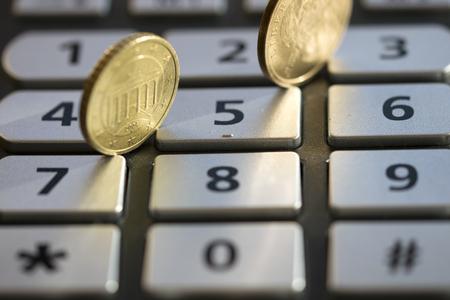 monetary: concept of calcution appreciation and monetary value Stock Photo