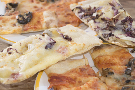leavening: handmade craft pizza at long leavining with soft dough Stock Photo