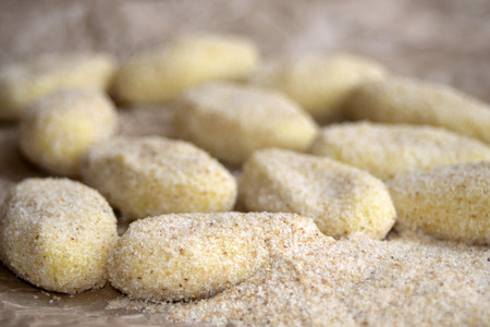 raw croquettes to fry in pan or in fryer