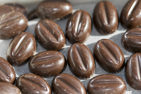 pralines: italian speciality with stuffed  pralines at the espresso coffe