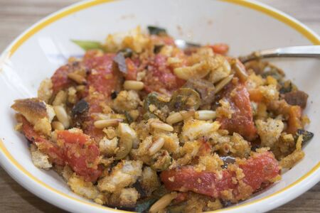 pine nut: peppers at the sicilian or rather stir-fried peppers with capers olives bread crumbs and pine nut