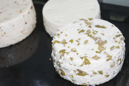 unharmed: Handmade shapes of spiced  pecorino cheeses  seasoned with aromatic herbs or spices or walnuts