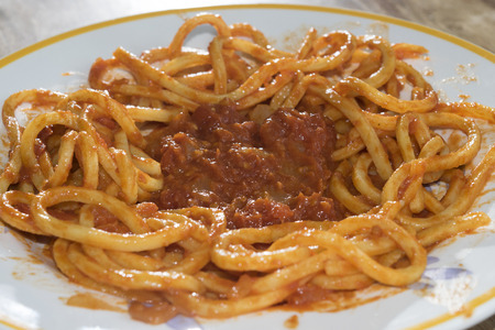 tomato puree: egg pasta with fresh tomato puree