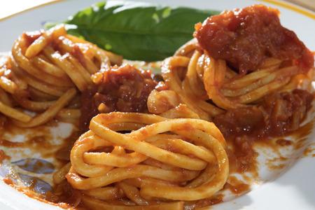 tomato puree: handmade egg pasta with fresh tomato puree
