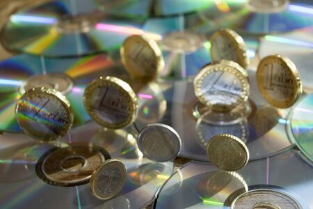 monetary concept: concept of monetary planning and business with the display of money Stock Photo