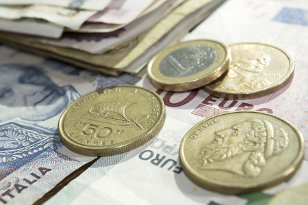 eurozone: The Exit of Greece from single currency and Eurozone Stock Photo