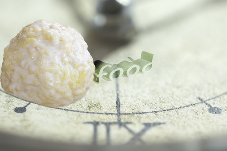 refusal: concept of  time for diet and refusal of the junk food Stock Photo