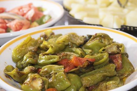 Il friggitello è un dolce italiano peperoncino ideale per friggere Archivio Fotografico