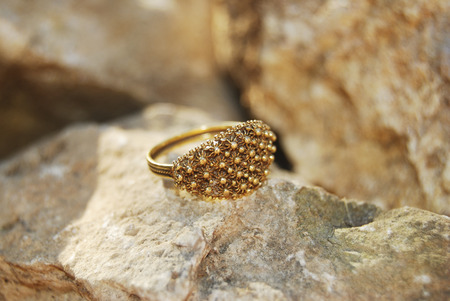 filagree: a typical sardinian jewel : the wedding ring made with filigree