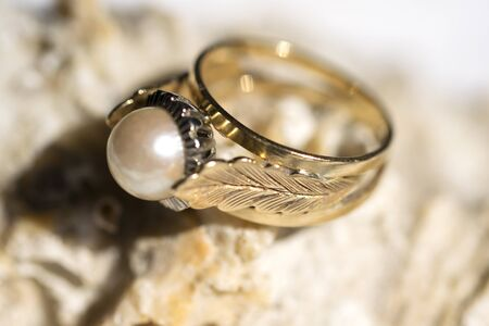 jewels: family jewels: ring with ancient pearl