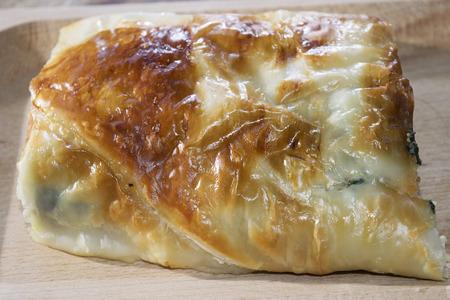 savoury: slice of quiche spinach and ricotta or savoury pie