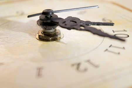 quadrant: concept of time with the dial of an old clock