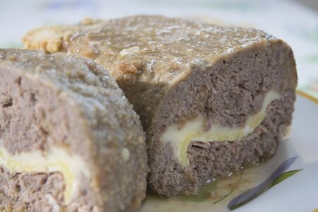 meatloaf: meatloaf stuffed with steak ham and mozzarella cheese