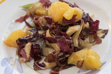 radicchio: radicchio and orange salad with black olives and walnuts
