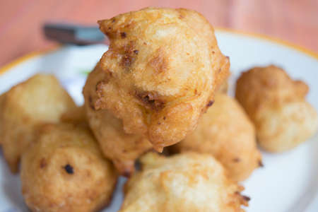 zeppole: fried zeppole of Saint Joseph a recipe of fried fritters with ball shapes