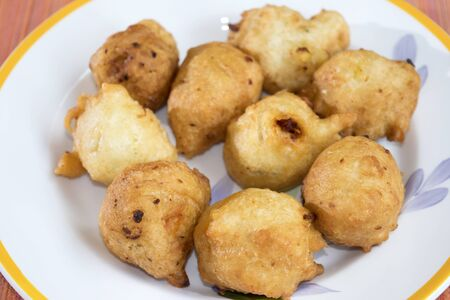 zeppola: fried zeppole of Saint Joseph an Italian recipe of fried fritters with ball shapes