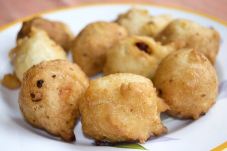 zeppola: fried zeppole of Saint Joseph a Italian recipe of fried fritters with ball shapes
