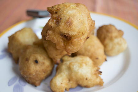 zeppole: fried zeppole a recipe typical of carnival in Italy Stock Photo
