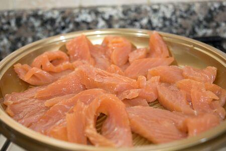 appetiser: slices of smoked Norwegian salmon for appetiser