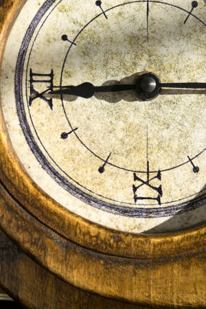 old clock: concept of time with the detail of an old clock