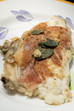 mediterranea: codfish fillet alla sorrentina or alla mediterranea with tomato sauce aromatic herbs and capers