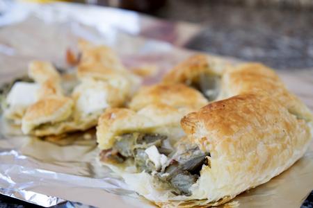 savory: savory tart stuffed with cured ham mozzarella and anchovies