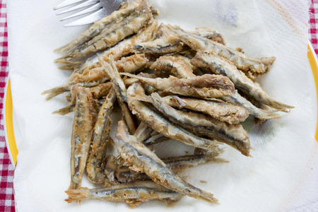 battered: whole anchovies battered and fried in olive oil
